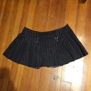 Super Low Fat Medium Pinstriped Miniskirt